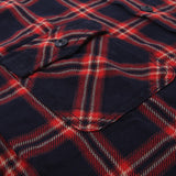 Momotaro Indigo Check Work Shirt (Red)