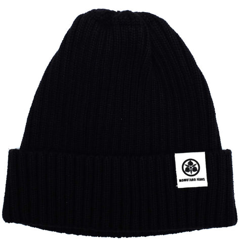 Momotaro Knit Naval Watch Cap (Black)