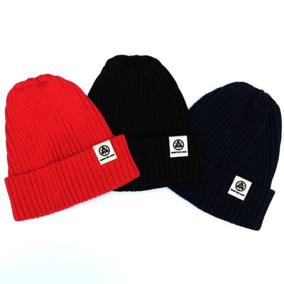 Momotaro Knit Naval Watch Cap (Red) - Okayama Denim Accessories - Selvedge