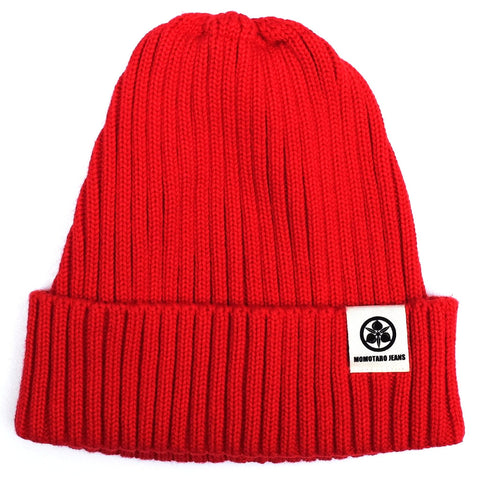 Momotaro Knit Naval Watch Cap (Red)