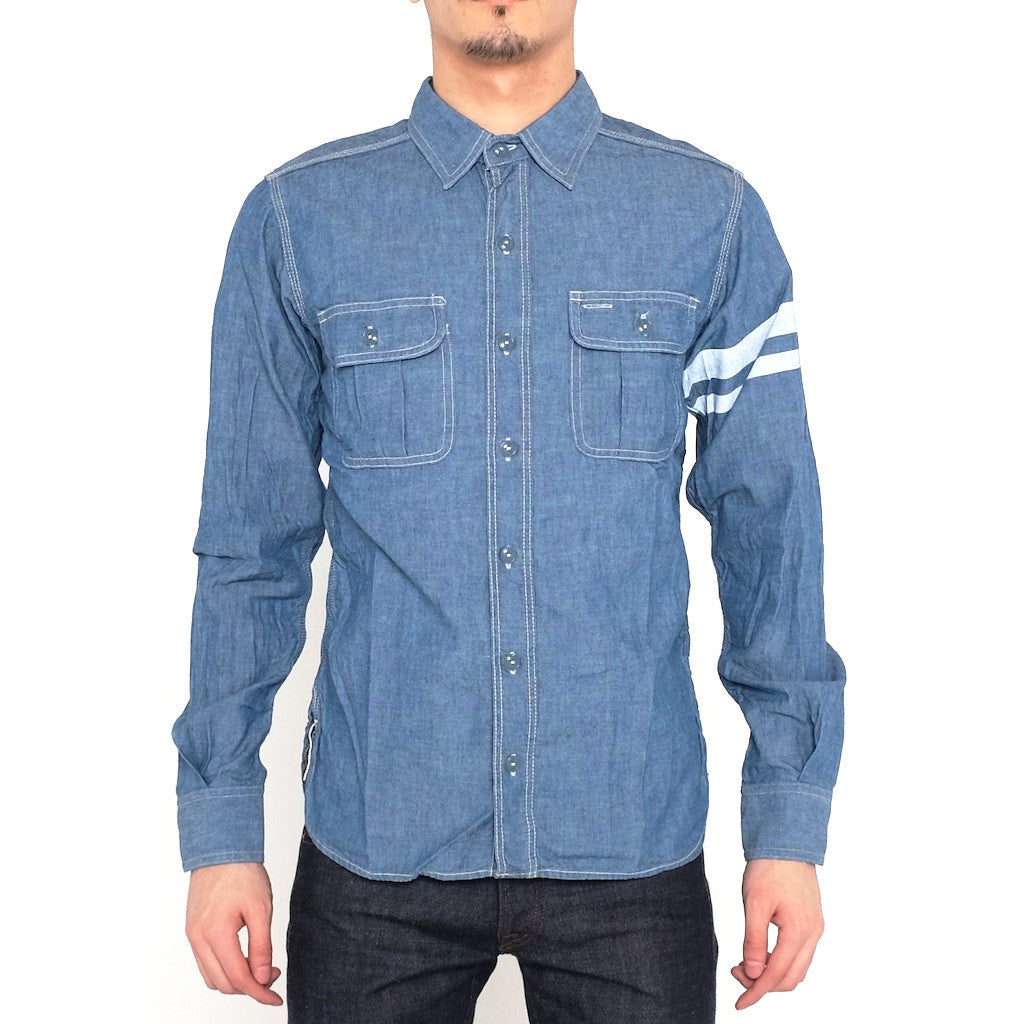 Momotaro SJ091P GTB 5oz. Chambray Shirt