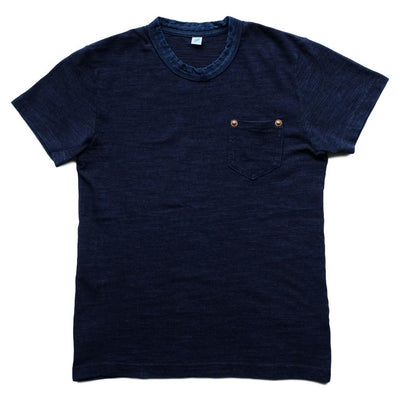 Pure Blue Japan Indigo Slub Pocket Tee