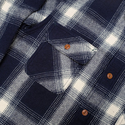 Burgus Plus Heavyweight Flannel Check Work Shirt - Okayama Denim Shirt - Selvedge