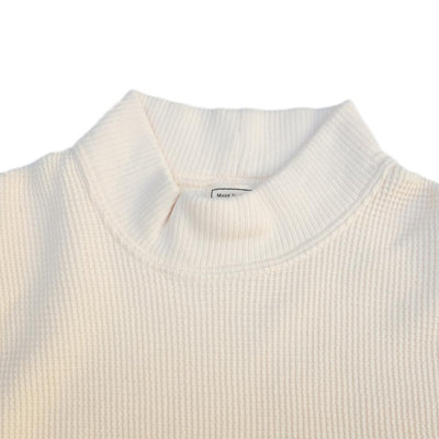 Loop & Weft Double Face Wire Mesh Mock Neck Thermal (Ivory)