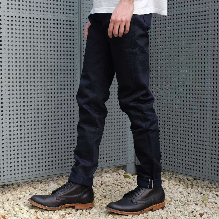 "ODJB007 18oz. ""Midnight Slub"" Indigo x Indigo Selvedge Jeans (High Tapered)"