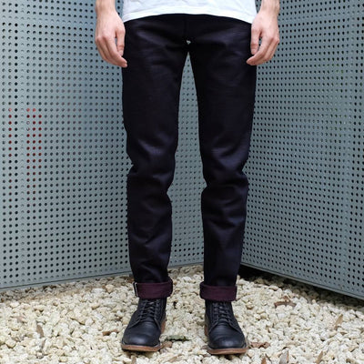 "ODJB010 18oz. ""Wine Weft"" Selvedge Jeans (High Tapered) - Okayama Denim Jeans - Selvedge"