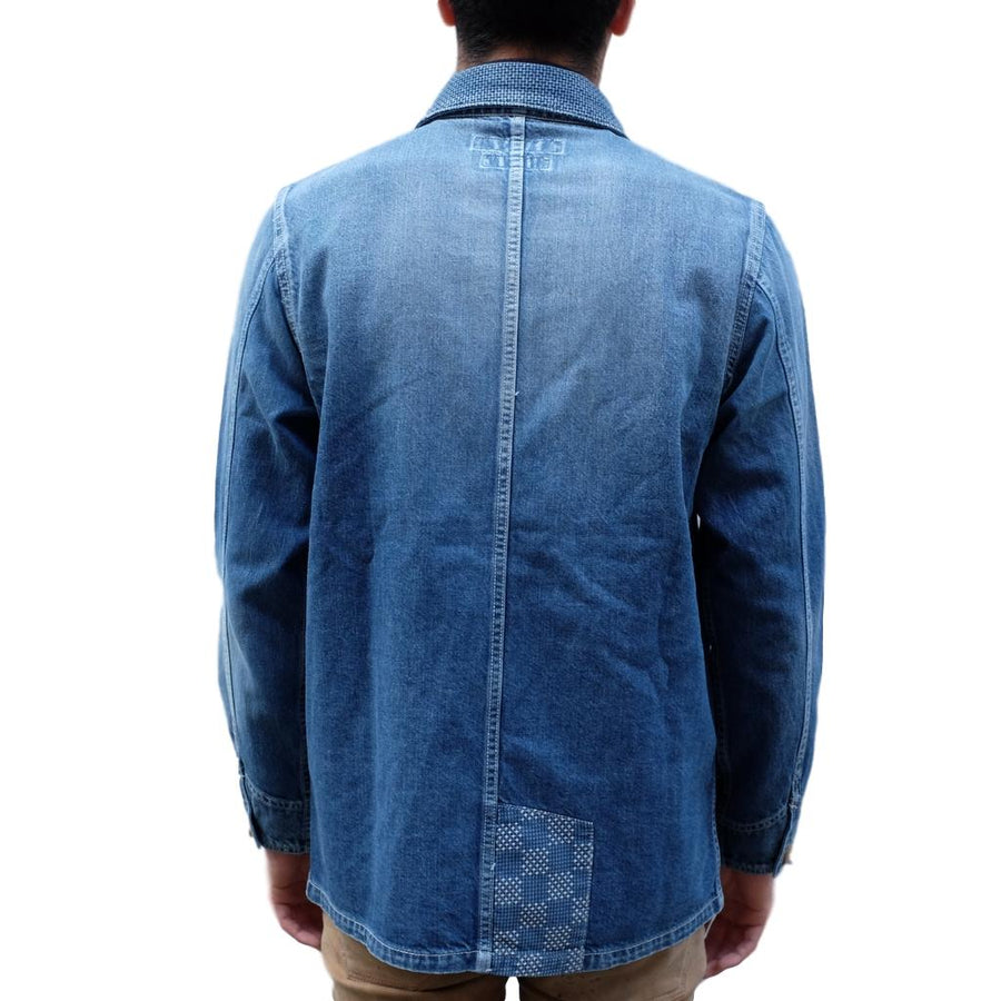 FDMTL Distressed Indigo Patchwork Coverall - Okayama Denim Jacket - Selvedge