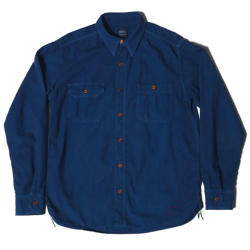 OD+MJ Natural Indigo Dyed Selvedge Workshirt