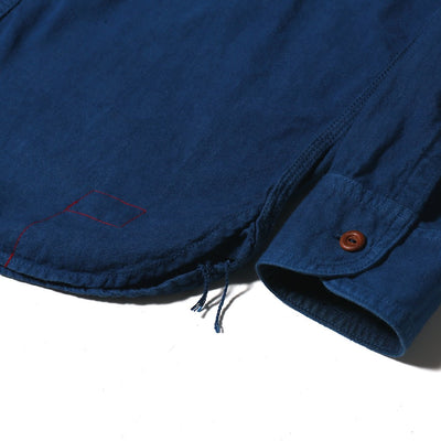 OD+MJ Natural Indigo Dyed Selvedge Workshirt - Okayama Denim Shirt - Selvedge