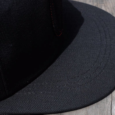 "ODJB005 ""Blackout"" Baseball Cap - Okayama Denim Accessories - Selvedge"