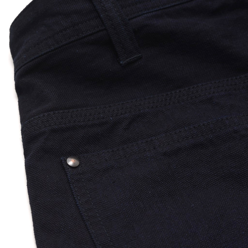Pure Blue Japan 1123 Deep Indigo Duck Selvedge Work Pants (Slim Straight)