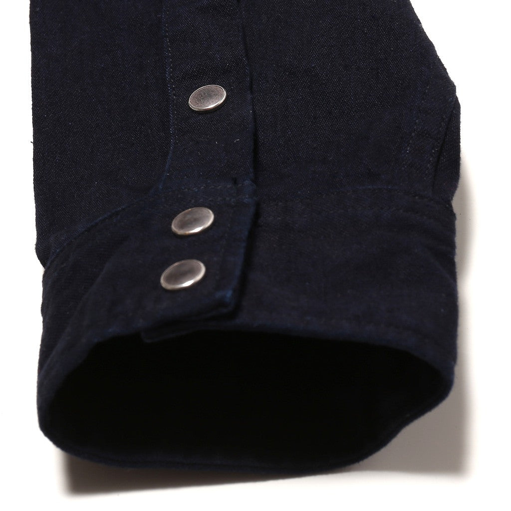 Pure Blue Japan Deep Indigo Selvedge Western Shirt