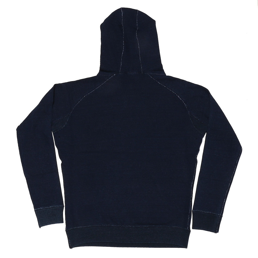 Pure Blue Japan Indigo Dyed Pullover Hoodie