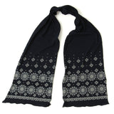 Pure Blue Japan Indigo Discharge Komon Scarf