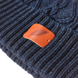 Pure Blue Japan Indigo Dyed Knit Beanie (5 Gauge Version)