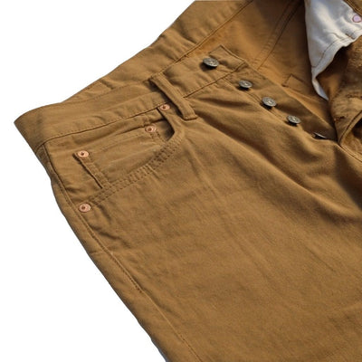 Pure Blue Japan Selvedge Chino Pants (Camel) - Okayama Denim Pants - Selvedge