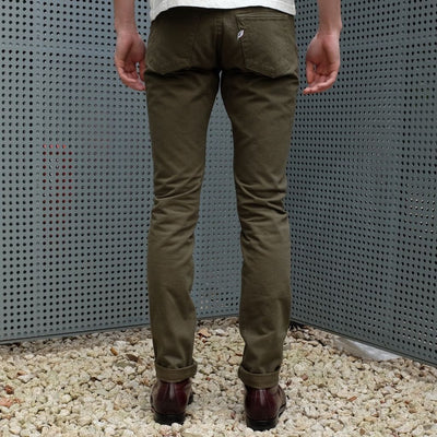 Pure Blue Japan 12oz. Selvedge Chino Pants (Olive) - Okayama Denim Pants - Selvedge