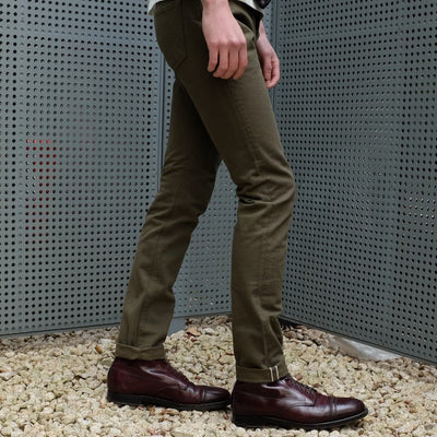 Pure Blue Japan 12oz. Selvedge Chino Pants (Olive)