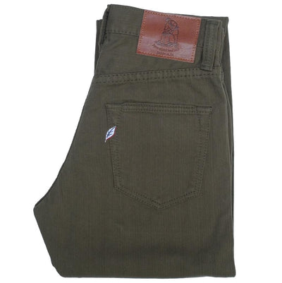 Pure Blue Japan Pique Pants (Olive x Camel)