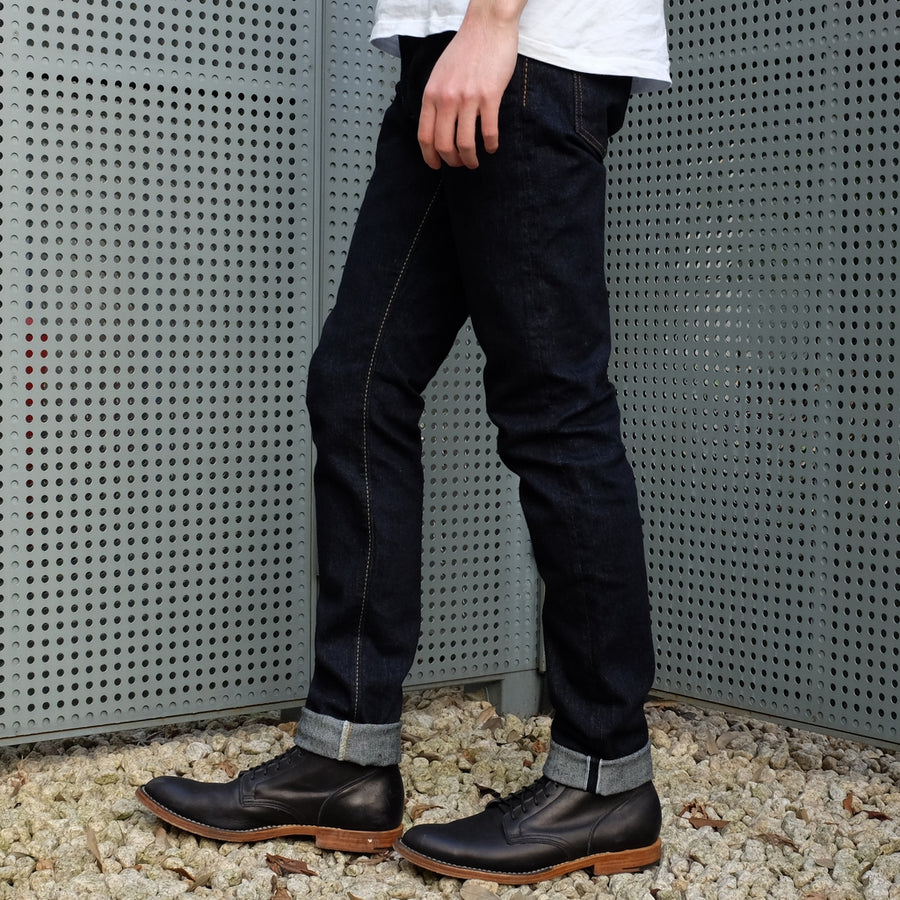 Pure Blue Japan 12oz. Stretch Selvedge Jeans (Slim Tapered) - Okayama Denim Jeans - Selvedge