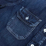 Pure Blue Japan Distressed Denim Work Shirt