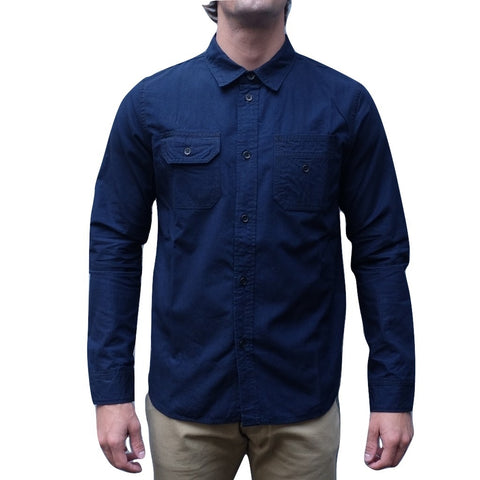 Pure Blue Japan Deep Indigo 5oz. Selvedge Chambray Work Shirt