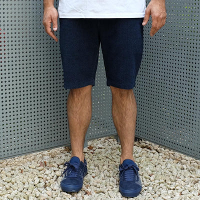 Pure Blue Japan Indigo Dyed Towel Denim Shorts
