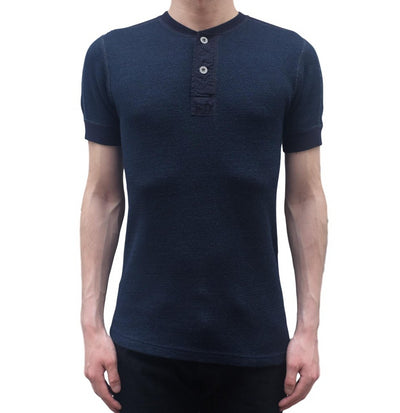 Pure Blue Japan Indigo Honeycomb Thermal Henley