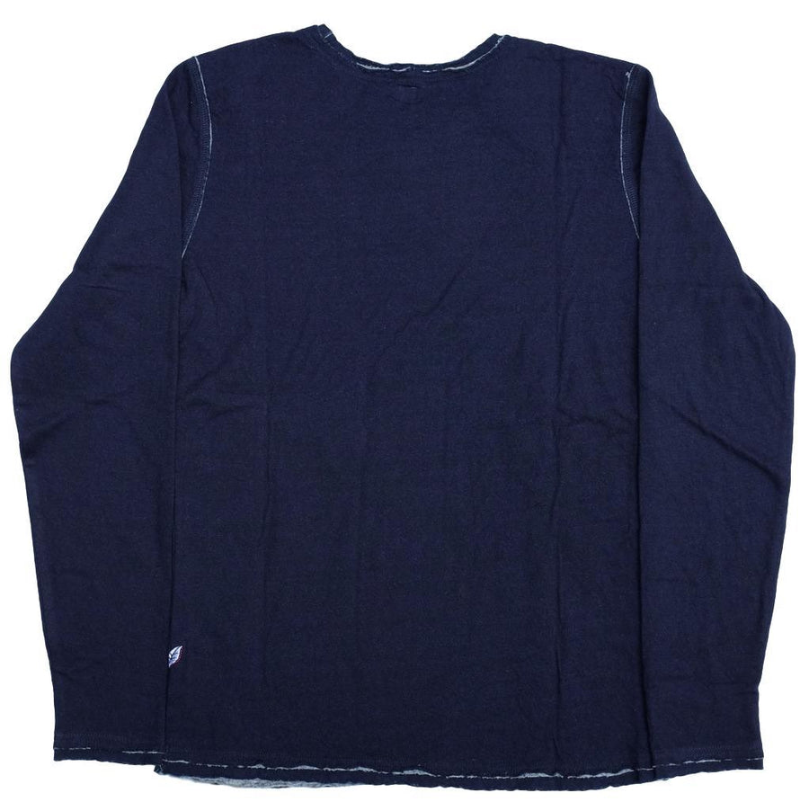 Pure Blue Japan Double Face Raw Edge Indigo LS Tee