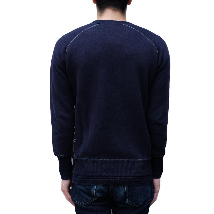 "Pure Blue Japan Indigo Dyed ""Raised"" Crewneck Sweatshirt"
