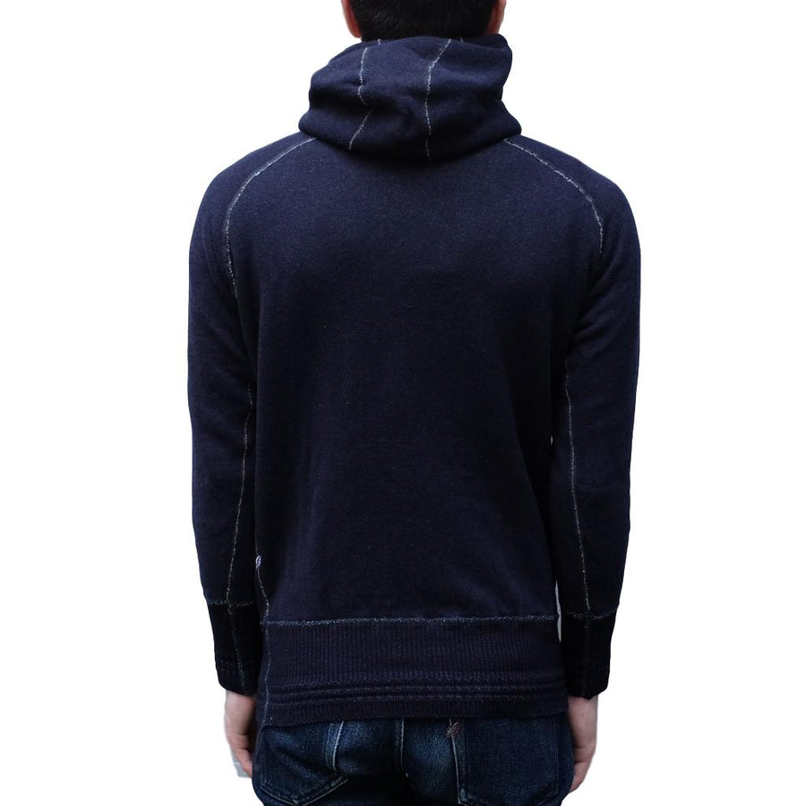 "Pure Blue Japan Indigo Dyed ""Raised"" Hoodie"