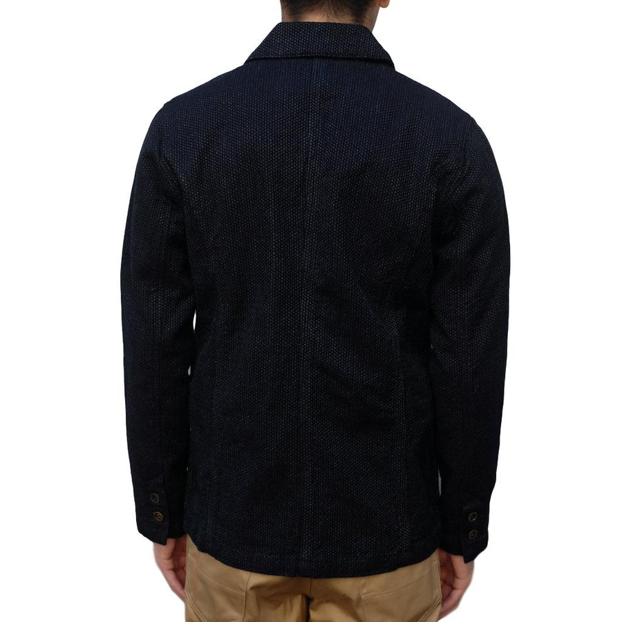 Pure Blue Japan Indigo Sashiko Tailored Jacket