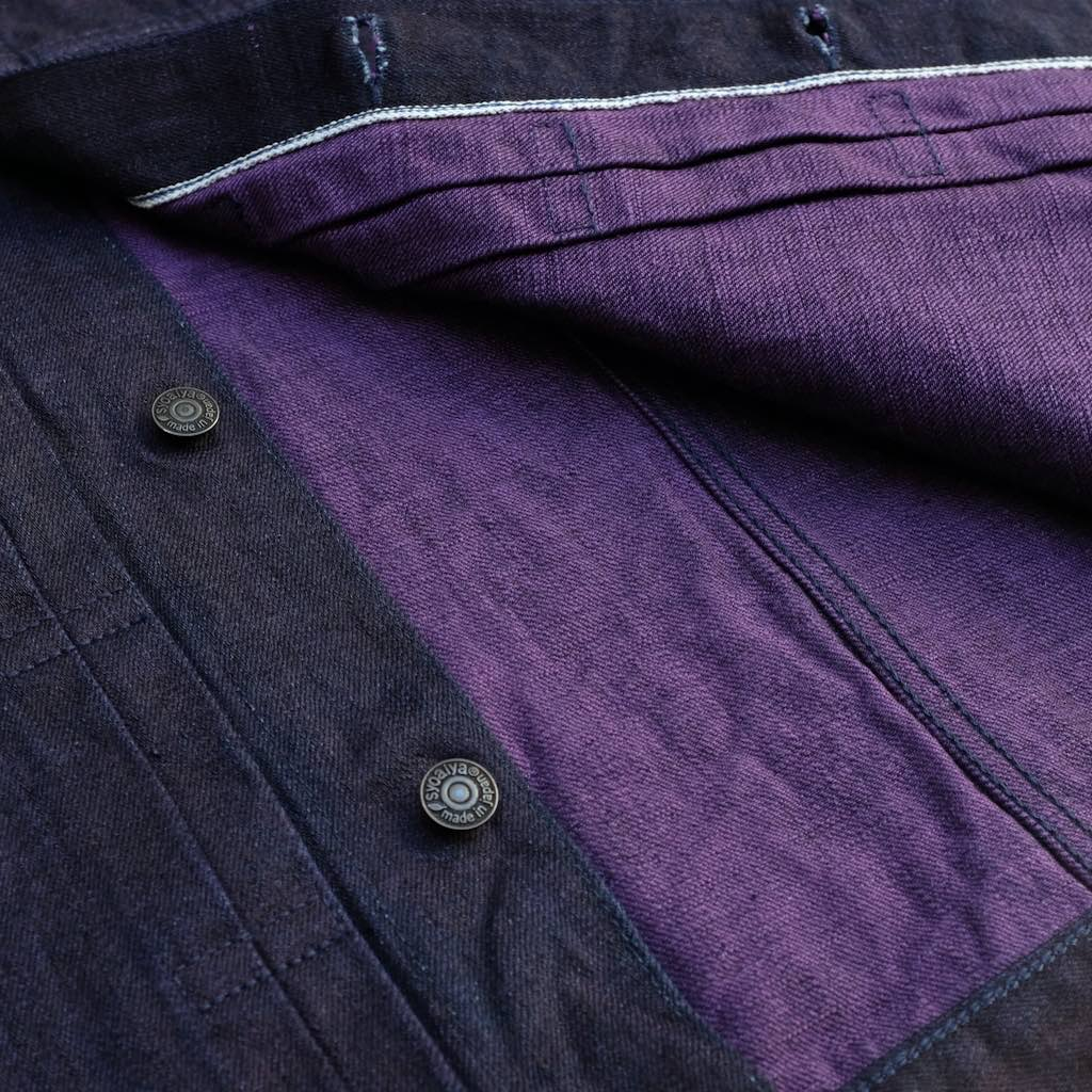 Pure Blue Japan 6083 Type II Purple Weft Selvedge Jacket