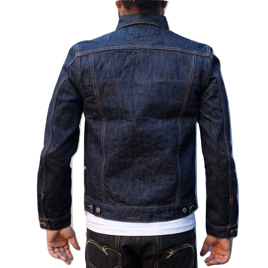 "Pure Blue Japan 6084 17.5oz. ""Rain"" Natural Indigo Selvedge Jacket"