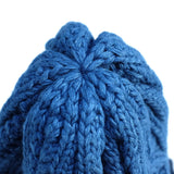 Pure Blue Japan Two-tone Light Indigo Dyed Knit Beanie (3 Gauge Version)