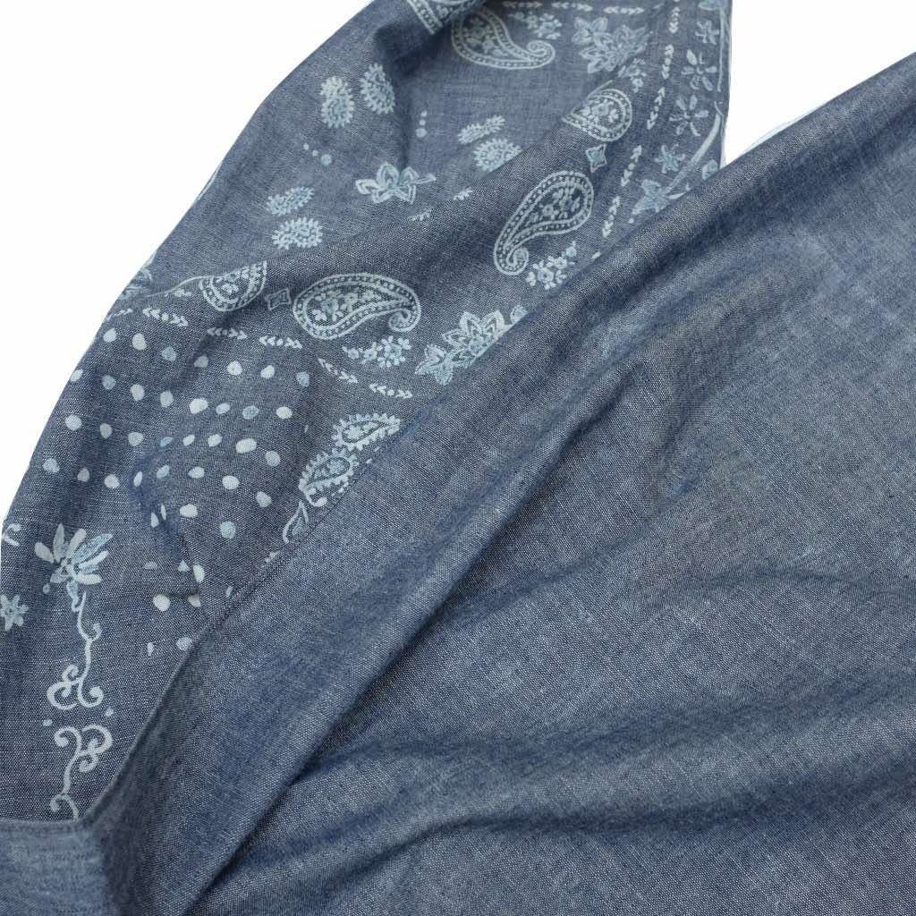 Pure Blue Japan Indigo Chambray Stole