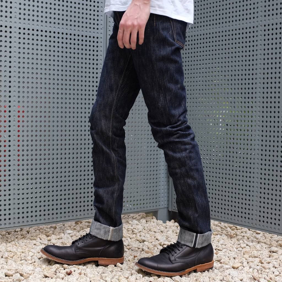 "Pure Blue Japan AI-013 17.5oz. ""Aizome"" (Slim Tapered) - Okayama Denim Jeans - Selvedge"