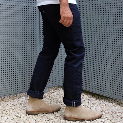 Pure Blue Japan AI-003-WID 17.5oz. Double Natural Indigo Selvedge Denim Jeans (Slim Tapered)