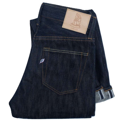 "Pure Blue Japan AI-019 17.5oz. ""Rain"" Natural Indigo (Relaxed Tapered)"