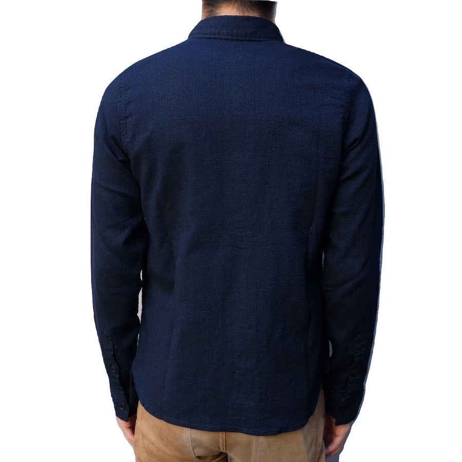 Pure Blue Japan Indigo Sashiko Shirt