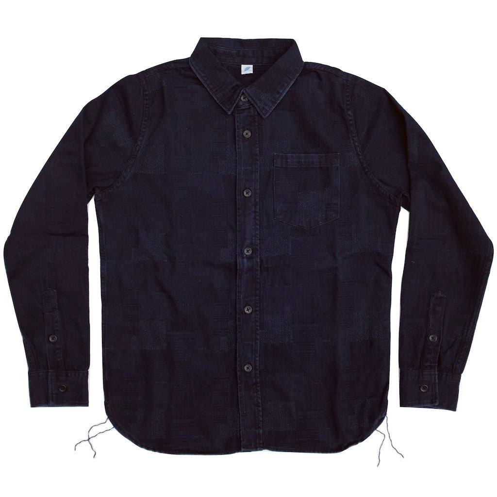 Pure Blue Japan Indigo Jacquard L/S Shirt