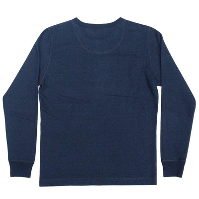 Pure Blue Japan Indigo Dyed L/S Military Henley