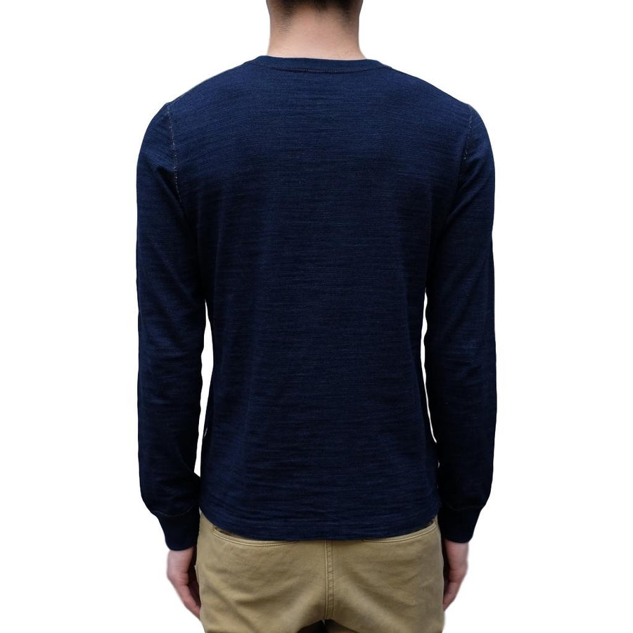 Pure Blue Japan Indigo Slub L/S Henley