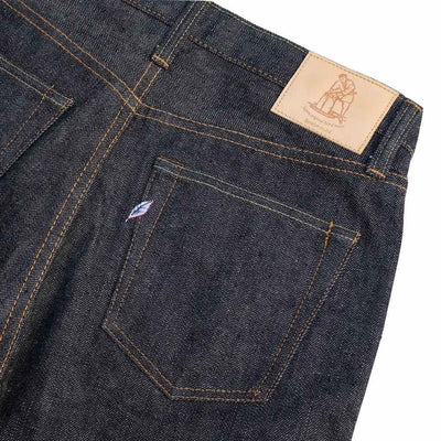 Pure Blue Japan PBE-019 (Relaxed Tapered) - Okayama Denim Jeans - Selvedge
