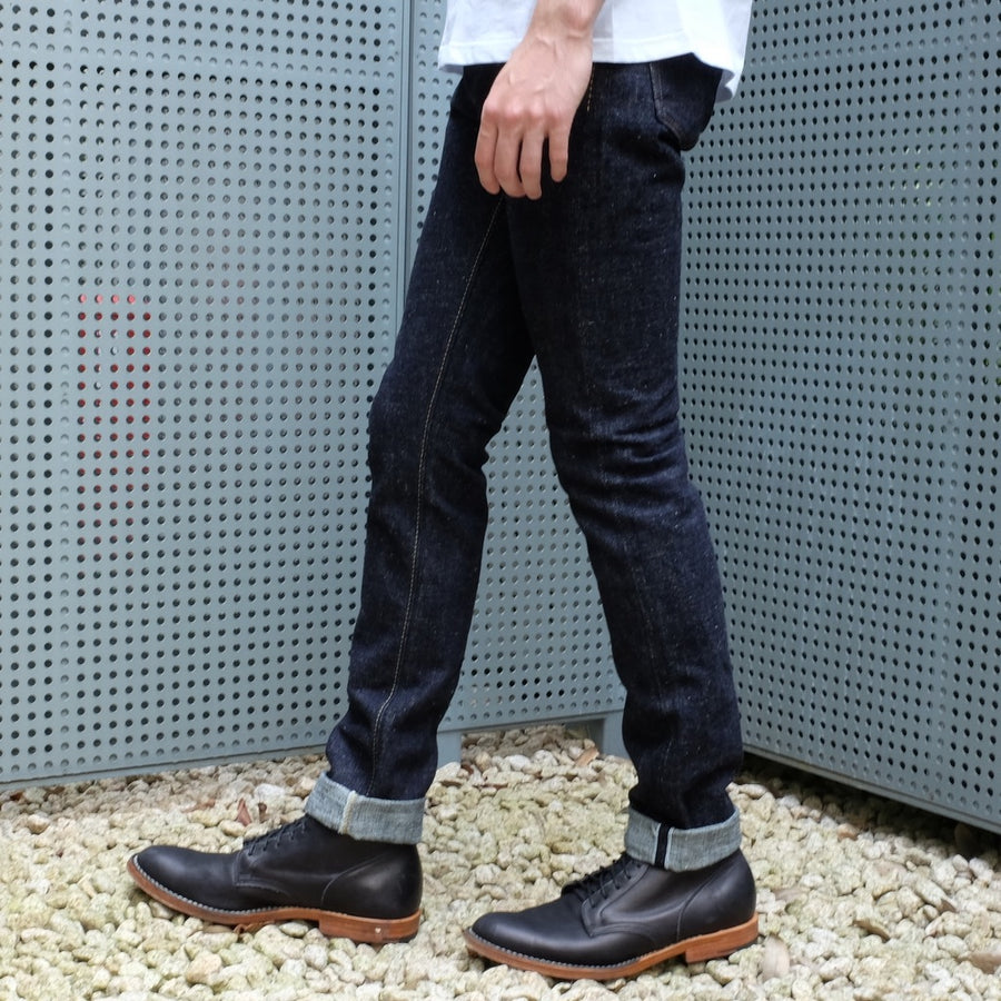 Pure Blue Japan SLB-019 (Relaxed Tapered) - Okayama Denim Jeans - Selvedge