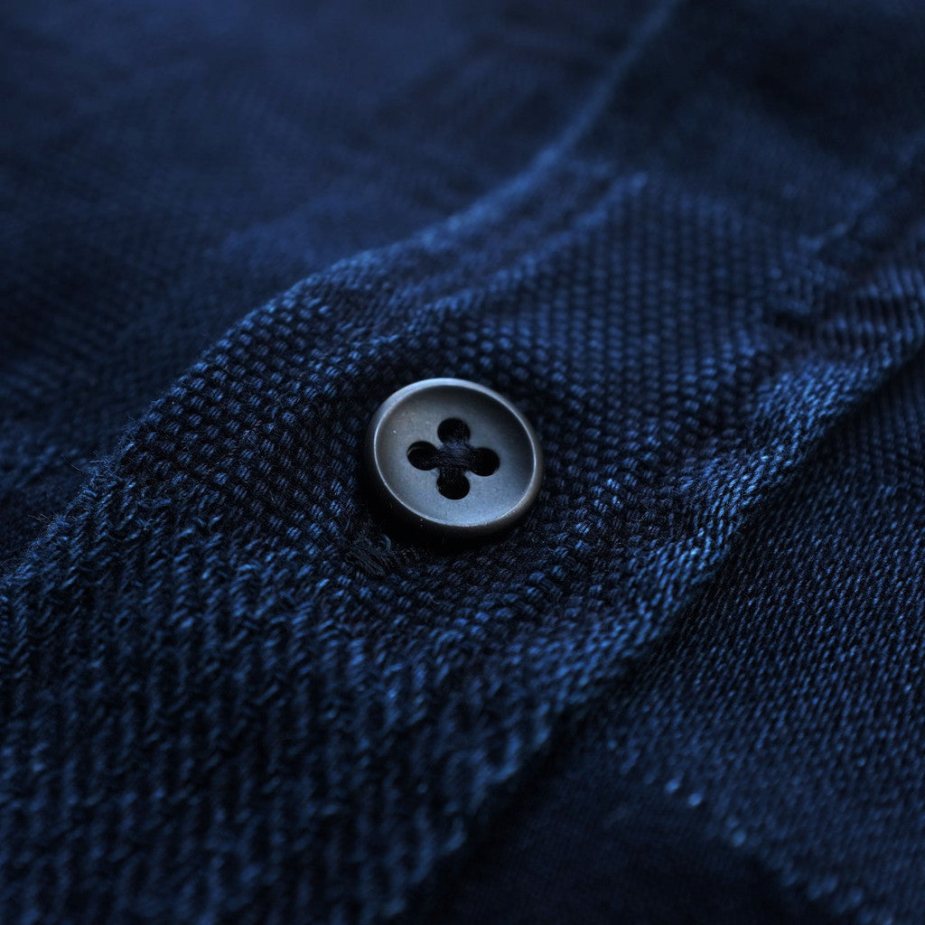 Pure Blue Japan Indigo Jacquard S/S Shirt