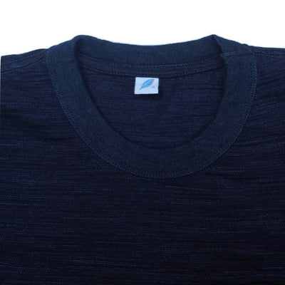 Pure Blue Japan Indigo Slub L/S Pouch Pocket Tee - Okayama Denim T-Shirts - Selvedge