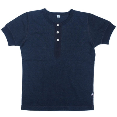 Pure Blue Japan Indigo Dyed S/S Military Henley