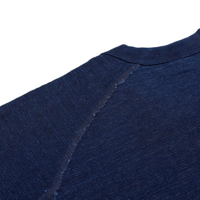 Pure Blue Japan Indigo Slub Raglan Sleeve Tee - Okayama Denim T-Shirts - Selvedge