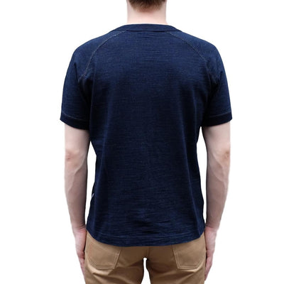Pure Blue Japan Indigo Slub Raglan Sleeve Tee